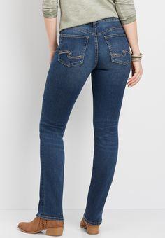 Aniston Jeans 21 Stretch Röhrenjeans 42 Denim Used Blau Damen Hose Sterne NEU