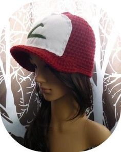 Ash Ketchum Hat. I think I'd crochet all of it, without the felt...