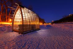 Warming Hut on the Red River Mutual Trail #winnipeg #canada