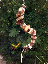 Bird toy, medium and large parrot toy, MEDIUM-LARGE Natural Boing bird toy