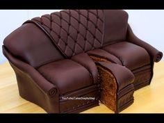 Chocolate Sofa Cake by Cakes StepbyStep - YouTube