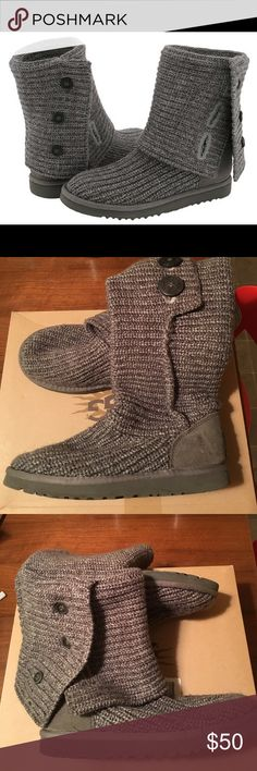 UGG Australia Classic Cardy Grey Size 7 UGG Australia Classic Cardy Grey Size 7. Good condition. A classic! Pairs well with a latte. UGG Shoes Winter & Rain Boots