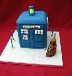 Dr Who & Dalek cake