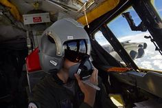 Aircraft Commander on the left, great inflight B-52 shot!