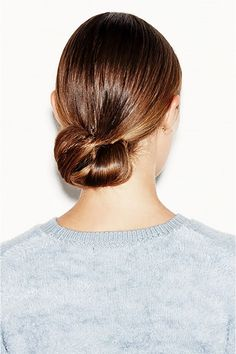 Le chignon bas classique coiffure
