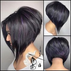 "1,947 Likes, 28 Comments - @bobbedhaircuts on Instagram: ""Loving these extremealine's... the texture of the cut and the color ""Peek -a- Purp"" Purple…"""