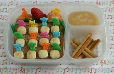 twelve drummers drumming, this site has cool food ideas for kids