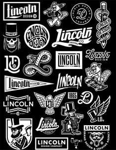 Some illustrations and designs by Lincoln Design Company for their personal brand. Informations About Some illustrations and designs by Lincoln Design Comp Logos Vintage, Vintage Logo Design, Retro Logos, Typography Logo, Logo Branding, Art Logo, Branding Design, Personal Logo, Personal Branding