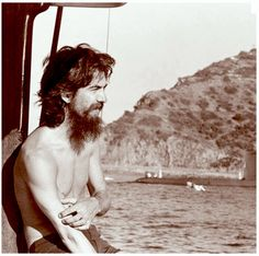 George Harrison sailing off the coast of Catalina Island shortly before the Concert for Bangladesh performances, July 1971.   photo by Pattie Boyd