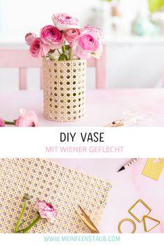 DIY-Vase aus Wiener Geflecht basteln