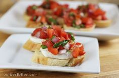 Bruschetta from Our Best Bites. Makes an awesome party food or appetizer!