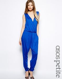 ASOS PETITE Exclusive Jumpsuit With Wrap Front