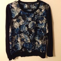 NWOT Shear Floral Print Crewneck Perfect condition!! Never Worn!!!! Ann Taylor Sweaters Crew & Scoop Necks