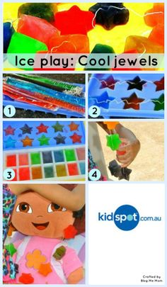 Make funky ice jewels with this sensory play activity!