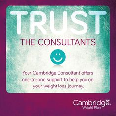 #trustcwp. you never have to be alone when following cambridge weight plan one 2 one support throughout and beyond