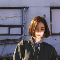Pin by monah s.j on bob short hair styles, shot hair styles, hair. Bob Haircut For Girls, Girl Haircuts, Bob Hairstyles, Pose Portrait, Portraits, Shot Hair Styles, Long Hair Styles, Pelo Ulzzang, Hair Inspo