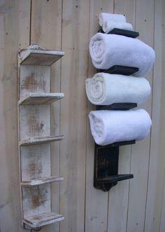 Handtuchhalter aus Holz - 40 DIY Ideen & Designer Modelle
