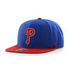 Philadelphia Phillies Sure Shot Two Tone Captain Royal 47 Brand Adjustable  Hat a81c5eeabc50
