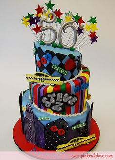 NYC Themed 50th Birthday Cake » Birthday Cakes