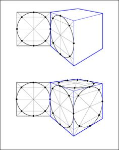 Perspective Cube and Ellipses