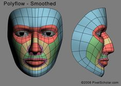 Edge loops for human faces: