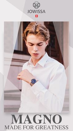 The Magno collection of men's watches introduces a new 40mm case with striking edges and different dials. Classic design embellished with Jowissa signature style makes it the must-have watch for smart and casual occasions.