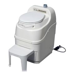Visit The Home Depot to buy Sun-Mar Spacesaver Electric Waterless Self Contained Composting Toilet in White SPACESAVER (white) Portable Toilet, Composting Toilet, Camper Renovation, Water Conservation, Off The Grid, Floor Space, Foot Rest, Modern Minimalist, Home Depot