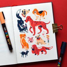 Posca Marker, Marker Art, Animal Drawings, Art Drawings, Illustrations, Illustration Art, Posca Art, Arte Sketchbook, Hippie Art