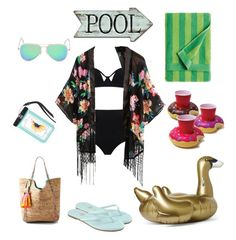 """""""A Day At The Pool"""" by alexthefeminist ❤ liked on Polyvore featuring Sunnylife, MOEVA, Yosi Samra, Lilly Pulitzer and Marimekko"""