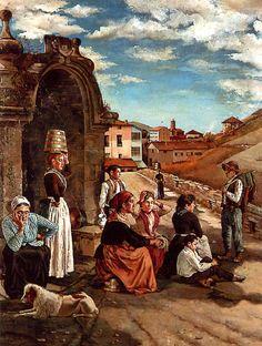 // La Fuente de Éibar. 1888 // Ignacio Zuloaga y Zabaleta (España 1870 – 1945).