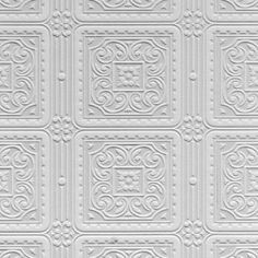 Turner Tile (RD80000) - Anaglypta Wallpapers deeply textured blown vinyl wallcovering on a dry peelable, flat backed paper. Classic panel tile effect.This wallcovering is white and is designed to be painted a colour of your choice. Please ask for a sample for true texture match.