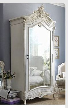 Chateau White Mirrored Armoire : Beau Decor | For The Home | Pinterest |  Armoires, Shabby Chic Style And Shabby
