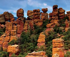 """A """"Wonderland of Rocks"""" is waiting for you to explore at Chiricahua National Monument, Arizona. The 8-mile paved scenic drive and 17-miles of day-use hiking trails provide opportunities to discover the beauty, natural sounds, and inhabitants of this 11,985 acre site."""