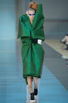 #Green # Big Tribal Eye Maison Margiela John Gallianos, Haute Couture Paris, AW 2015/16 - VOGUE