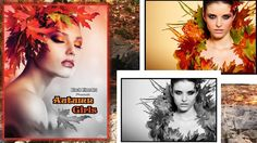 Beautiful Women of Fall Autumn Girls Grayscale Coloring Book for Adults