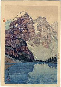 View Moraine Lake by Hiroshi Yoshida on artnet. Browse upcoming and past auction lots by Hiroshi Yoshida. Landscape Art, Landscape Paintings, Hiroshi Yoshida, Art Occidental, Art Chinois, Illustration Art, Illustrations, Botanical Illustration, Art Japonais