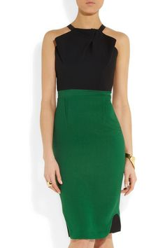 Roland Mouret | Abbotsford crepe and stretch-crepe dress | NET-A-PORTER.COM