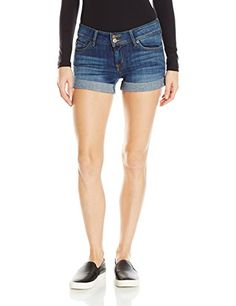 Hudson Jeans Women's Croxley Mid Thigh Jean Short with Flaps: The croxley is hudson's mid-thigh, regular cuffed short that includes our signature button-flap pockets. Fashion Outfits, Fashion Fall, Womens Fashion, Spring Shorts, Gym Clothes Women, Womens Workout Outfits, Hudson Jeans, Shorts With Pockets, Active Wear For Women