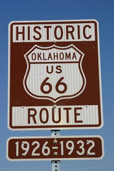 Route 66 OK -  kids were born here and I want to drive the entire thing some day.