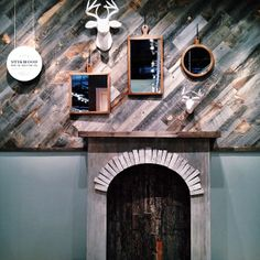 Stikwood Reclaimed Weathered Wood in a West Elm Store