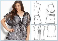 Amazing Sewing Patterns Clone Your Clothes Ideas. Enchanting Sewing Patterns Clone Your Clothes Ideas. Plus Size Sewing, Moda Plus Size, Sewing Clothes, Diy Clothes, Dress Patterns, Sewing Patterns, Casino Dress, Modelos Plus Size, Make Your Own Clothes