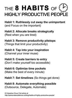 8 Habits of Highly Productive