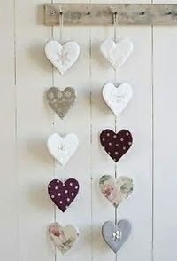 DIY & crafts projects, contents and more - Diy Crafts Diy Crafts 647322146412833649 P Diy Clay, Clay Crafts, Diy And Crafts, Arts And Crafts, Heart Garland, Clay Ornaments, Heart Crafts, Heart Wall, Hanging Hearts
