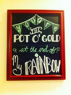 My own creation for St. Patricks day chalkboard:)
