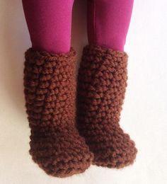 crochet doll boots-