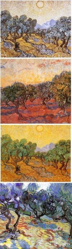 Vincent Van Vogh clearly loved painting olive trees.