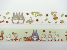 2 My Neighbor Totoro Japanese washi tape rolls Studio by 2FooDogs