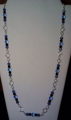 Handmade Beaded Necklace with Sapphire by KimsSimpleTreasures, $20.00