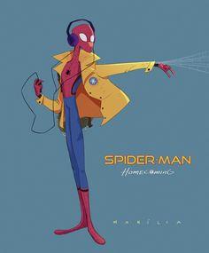fanart of the new Spider-Man by Marília Feldhues