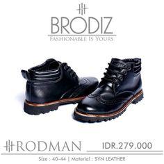 Brodiz Rodman, Warna: Black, Size : 40-44. Untuk Pemesanan Online Kunjungi : www.rockford-footwear.com *Gratis pengiriman ke seluruh Indonesia Email: contact@rockford-footwear.com Pin : 525B26DF Atau...